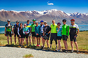 Smiling faces under the Southern Alps on the REI Adventures Cycle New Zealand trip
