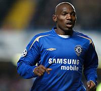 Photo: Richard Lane.<br />Chelsea v Barcelona. UEFA Champions League. 22/02/2006.<br />Chelsea's Geremi.