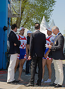 Brandenburg. GERMANY. CRO M2X. left. Martin SINKOVIC and Valent SINKOVIC, Final Men's Double Sculls at the <br /> 2016 European Rowing Championships at the Regattastrecke Beetzsee<br /> <br /> Sunday  08/05/2016<br /> <br /> [Mandatory Credit; Peter SPURRIER/Intersport-images]