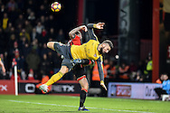 Arsenal Forward, Olivier Giroud (12) unable to connect with a header during the Premier League match between Bournemouth and Arsenal at the Vitality Stadium, Bournemouth, England on 3 January 2017. Photo by Adam Rivers.