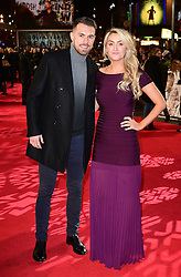 Aaron Ramsey and Colleen Rowland attending the European premiere of Collateral Beauty, held at the Vue Leicester Square, London.