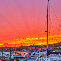 Outer Cape Cod harbor scenery photography of sailing boats at the Cape Cod Bay Wellfleet Marina and Harbor in Wellfleet, Massachusetts.<br /> <br /> Inspiring Outer Cape Cod sunset photography pictures of Wellfleet Marina and Harbor are available as museum quality photography prints, canvas prints, acrylic prints, wood prints or metal prints. Fine art prints may be framed and matted to the individual liking and interior design decorating needs.<br /> <br /> Good light and happy photo making!<br /> <br /> My best,<br /> <br /> Juergen