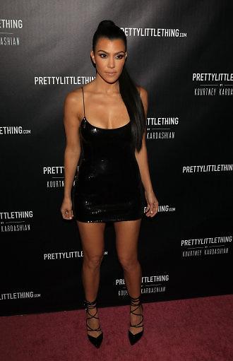 Kourtney Kardashian at the launch of PrettyLittleThing By Kourtney Kardashian, Los Angeles
