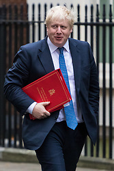 London, December 05 2017. Foreign Secretary Boris Johnson arrives at 10 Downing Street to attend the weekly cabinet meeting. © Paul Davey