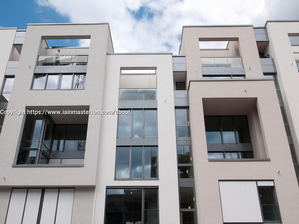 New luxury apartment buildings under construction at Marthashof in bohemian Prenzlauer Berg in Berlin Germany