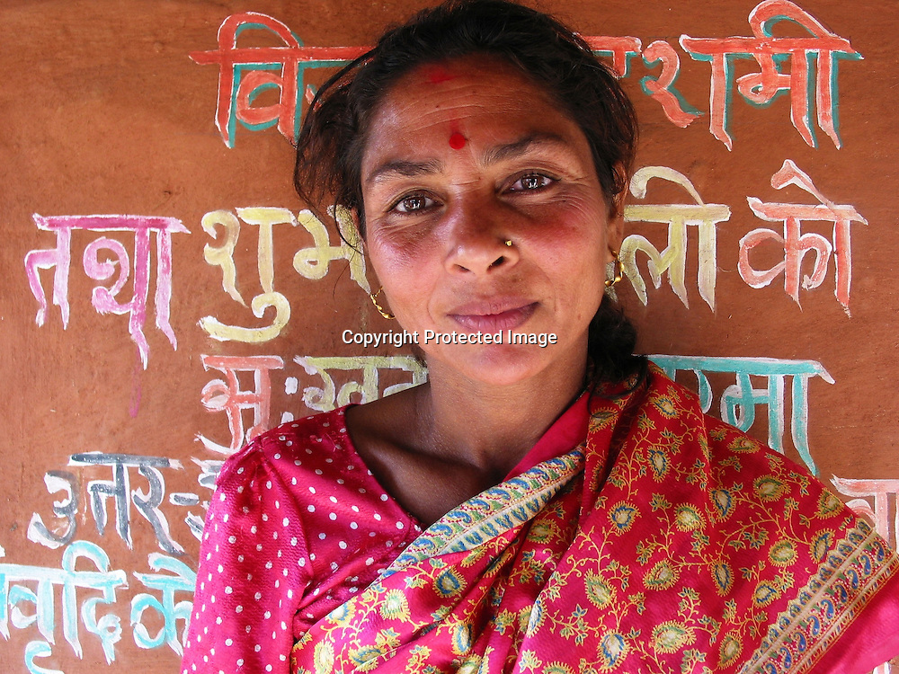Portrait of a woman in Kathmandu