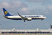 EI-DHW Ryanair Boeing 737-800 Next Gen, landing at Malpensa (MXP / LIMC), Milan, Italy