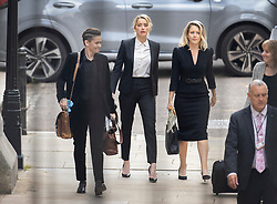 © Licensed to London News Pictures. 24/07/2020. London, UK. American actor AMBER HEARD (C), Bianca Butti (L) and lawyer Jennifer Robinson arrive at the High Court in London where Johnny Depp is in a legal dispute with UK tabloid newspaper The Sun over allegations he assaulted his former wife, Amber Heard. Photo credit: Peter Macdiarmid/LNP