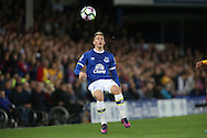 Bryan Oviedo of Everton in action. Premier league match, Everton v Crystal Palace at Goodison Park in Liverpool, Merseyside on Friday 30th September 2016.<br /> pic by Chris Stading, Andrew Orchard sports photography.