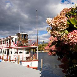 The M.V. Kearsarge on Lake Sunapee in Sunapee, New Hampshire.