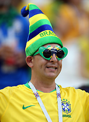 A Brazil fan before the game