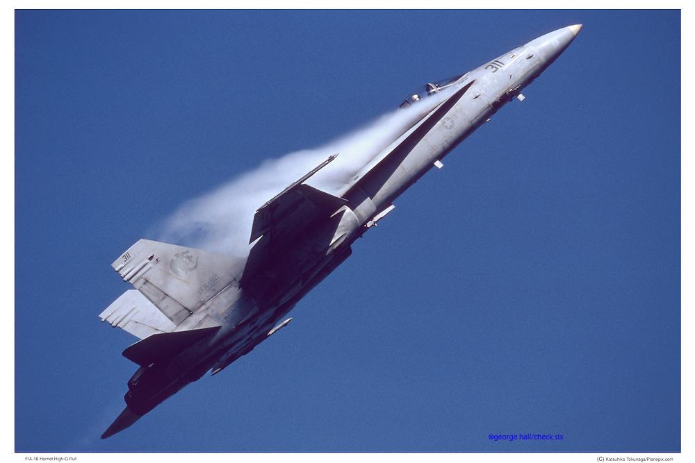 F-18 approaching Mach I