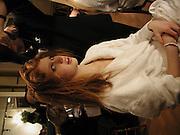 hon Lara Hughes-Young, Getting ready before the  Thirteenth Annual Crillon Haute Couture Ball. Paris,  29 November 2003. © Copyright Photograph by Dafydd Jones 66 Stockwell Park Rd. London SW9 0DA Tel 020 7733 0108 www.dafjones.com