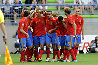 FOOTBALL - UEFA EURO 2010 UNDER 19 - FINAL - FRANCE  v SPAIN  - 30/07/2010  - PHOTO JEAN MARIE HERVIO / DPPI - JOY SPAIN AFTER 1ST GOAL