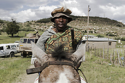 January 5, 2018 - Matatiele, Eastern Cape, South Africa - A Xhosa man sits on his horse. (Credit Image: © Stefan Kleinowitz/ZUMA Wire)