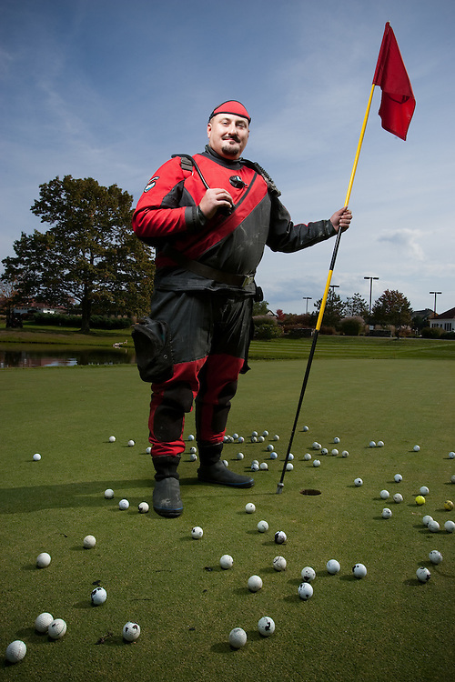 Forest Rothchild, Golf Ball Diver, photographed on October 20 at Wentworth By The Sea Country Club in Rye, New Hampshire.