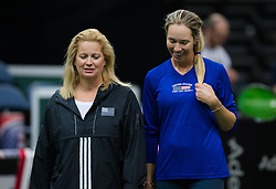 November 8, 2018 - Prague, Czech Republic - Danielle Collins of the United States during practice ahead of the 2018 Fed Cup Final between the Czech Republic and the United States of America (Credit Image: © AFP7 via ZUMA Wire)