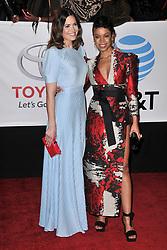 Mandy Moore (L) and Susan Kelechi Watson at The 49th NAACP Image Awards held at the Pasadena Civic Auditorium on January 15, 2018 in Pasadena, CA, USA (Photo by Sthanlee B. Mirador/Sipa USA)