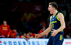 Luka Doncic of Slovenia celebrates during basketball match between National Teams of Slovenia and Spain at Day 15 in Semifinal of the FIBA EuroBasket 2017 at Sinan Erdem Dome in Istanbul, Turkey on September 14, 2017. Photo by Vid Ponikvar / Sportida
