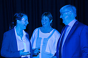 Date: 29/06/2017  Repro free:    Caption: Dr. Edel O'Connor, Irish Maritime Development Office (IMDO) with Mary Etienne, Director of Business Development and Marine at Dell EMC and Barry O'Dowd, Senior VP, IDA Ireland discussing Ireland's agenda to be at the forefront of the connected ocean internationally at the Digital Ocean conference in Galway. With Ireland's reputation as an ICT hub, combined with our marine capabilities, research and commercialisation, there is a real opportunity for Ireland to lead the Internet of Things (IoT) of the Seas. photo: xposure