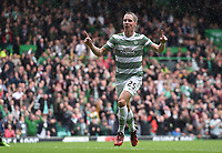 16/08/14 SCOTTISH PREMIERSHIP<br /> CELTIC v DUNDEE UTD<br /> CELTIC PARK - GLASGOW<br /> Celtic star Stefan Johanssen celebrates after making it 3-0 in the first-half