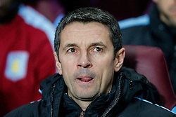 Aston Villa Manager Remi Garde looks on with his tongue out - Mandatory byline: Rogan Thomson/JMP - 19/01/2016 - FOOTBALL - Villa Park Stadium - Birmingham, England - Aston Villa v Wycombe Wanderers - FA Cup Third Round Replay.
