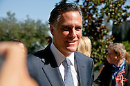 Mitt Romney arriving to the debate..Eight republican candidates for US President face off at a debate held at the Ronald Reagan Library. The debate was sponsored by NBC News and POLITICO, and was moderated by Brian Williams, anchor of NBC Nightly News.