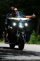 Riding Watson Road during Laconia Motorcycle Week. NH, USA. Friday, June 15, 2018. Photography ©2018 Michael Lichter.