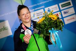 Judoka Tina Trstenjak, Olympic silver medalist during her arrival from Tokyo 2020 on July 28, 2021 in Airport Joze Pucnik, Brnik, Ljubljana, Slovenia. Photo by Vid Ponikvar / Sportida