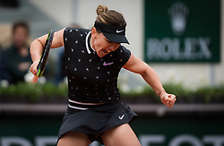 May 30, 2019 - Paris, FRANCE - Simona Halep of Romania in action during her second-round match at the 2019 Roland Garros Grand Slam tennis tournament (Credit Image: © AFP7 via ZUMA Wire)