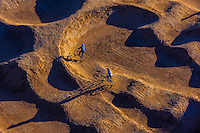Aerial view of riders on a BMX (bicycle motocross) course, Albuquerque, New Mexico USA