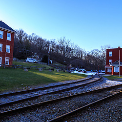 Hanover Junction, PA, USA - February 28. 2016: Hanover Junction Station is southern York County was an interchange for early railroads.