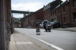Tiffany Cromwell (AUS) of CANYON//SRAM Racing descends into Remouchamps during the Liege-Bastogne-Liege Femmes - a 135.5 km road race, between  Bastogne and Ans on April 23, 2017, in Liege, Belgium.