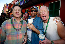 27 Jan 2013. New Orleans, Louisiana USA. .The Mystic Krewe of Barkus. Revellers Gary, Larry and Jim. Following the theme 'Here Comes Honey Bow Wow,' the parade parodies a popular media title as dogs and their owners parade through the French Quarter in one of the most irreverent parades of the season..Photo; Charlie Varley