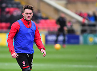 Lincoln City's Lee Frecklington during the pre-match warm-up<br /> <br /> Photographer Andrew Vaughan/CameraSport<br /> <br /> The EFL Sky Bet League Two - Saturday 15th December 2018 - Lincoln City v Morecambe - Sincil Bank - Lincoln<br /> <br /> World Copyright © 2018 CameraSport. All rights reserved. 43 Linden Ave. Countesthorpe. Leicester. England. LE8 5PG - Tel: +44 (0) 116 277 4147 - admin@camerasport.com - www.camerasport.com