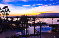 The sunsets on the Nile River, seen from the Hilton Luxor Resort & Spa, Luxor, Egypt