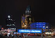 Berlin GERMANY, General Views GV's of the Berlin Zoologischer District and Kurfürstendamm, Tauentzien Straße and the Kaiser Wilhelm Memorial Church, Berlin Charlottenburg.<br /> 05.12.2014. <br /> [Mandatory Credit:  Peter SPURRIER/Intersport Images]