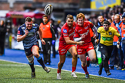 Scarlets' Paul Asquith in action - Mandatory by-line: Craig Thomas/Replay images - 31/12/2017 - RUGBY - Cardiff Arms Park - Cardiff , Wales - Blues v Scarlets - Guinness Pro 14