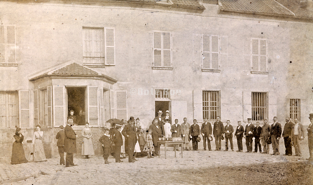 French formal village meeting early 1900s