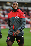 Charlton Athletic midfielder Mark Marshall (7) in warm up during the EFL Sky Bet League 1 match between Barnsley and Charlton Athletic at Oakwell, Barnsley, England on 29 December 2018.