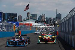 July 16, 2017 - New York, USA - Motorsports: FIA Formula E race 09/10 New York, .#4 Stéphane Sarrazin (Venturi)..#11 Lucas di Grassi (Audi Sport Abt Schaeffler) (Credit Image: © Hoch Zwei via ZUMA Wire)