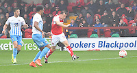 Fleetwood Town's Martyn Woolford scores his sides 2nd goal<br /> <br /> Photographer Dave Howarth/CameraSport<br /> <br /> The EFL Sky Bet League One - Fleetwood Town v Coventry Town - Saturday 3 September 2016 - Highbury Stadium - Fleetwood<br /> <br /> World Copyright © 2016 CameraSport. All rights reserved. 43 Linden Ave. Countesthorpe. Leicester. England. LE8 5PG - Tel: +44 (0) 116 277 4147 - admin@camerasport.com - www.camerasport.com