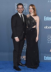 Stars attend the 22nd Annual Critics Choice Awards in Santa Monica, California. 11 Dec 2016 Pictured: Spencer Stone, Emma Stone. Photo credit: Bauer Griffin / MEGA TheMegaAgency.com +1 888 505 6342