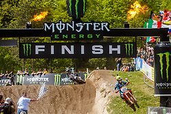Antonio Cairoli #222 of Italy during MXGP Trentino race one, round 5 for MXGP Championship in Pietramurata, Italy on 16th of April, 2017 in Italy. Photo by Grega Valancic / Sportida