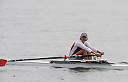 Marathon, GREECE, SUI W1X, Regina NAUNHEIM, 'with a look of surpise' winning the bronze, in the  women's single sculls final, at the FISA European Rowing Championships.  Lake Schinias Rowing Course, SAT. 20.09.2008  [Mandatory Credit Peter Spurrier/ Intersport Images] , Rowing Course; Lake Schinias Olympic Rowing Course. GREECE