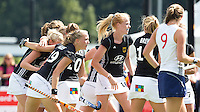 DEN BOSCH - saterday during the  match for third place between the women  of Young Germany  and Young  England.  EC-21. PHOTO KOEN SUYK
