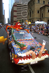 Stock photo of an aquatic themed car