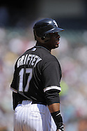 CHICAGO - AUGUST 20:  Ken Griffey Jr. #17 of the Chicago White Sox looks toward the fans during the game against the Seattle Mariners at U.S. Cellular Field in Chicago, Illinois on August 20, 2008.  The White Sox defeated the Mariners 15-3.  (Photo by Ron Vesely)