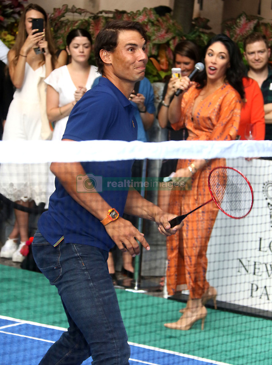 August 23, 2018 - New York City, New York, U.S. - Tennis player RAFAEL NADAL attends the .2018 Lotte Palace Invitational Badminton Tournament held at the Lotte New York Palace. (Credit Image: © Nancy Kaszerman via ZUMA Wire)