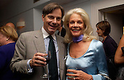 Whit Stillman and Frances Hayward, supper at the Groucho club after Bryan Wallick debut concert at Wigmore Hall, 25/9/03 © Copyright Photograph by Dafydd Jones 66 Stockwell Park Rd. London SW9 0DA Tel 020 7733 0108 www.dafjones.com
